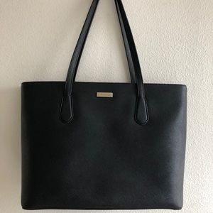 Kate Spade Black Leather Tote, Medium
